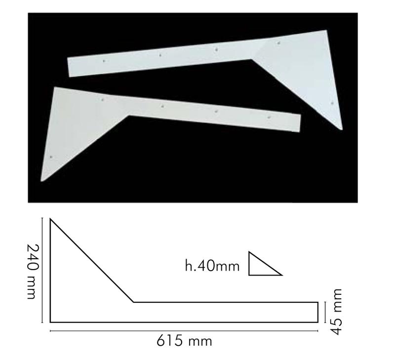 Ъгли за джаги пластмасови комплект 4 части