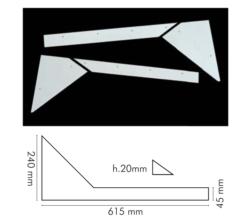 Ъгли за джаги пластмасови комплект 8 части