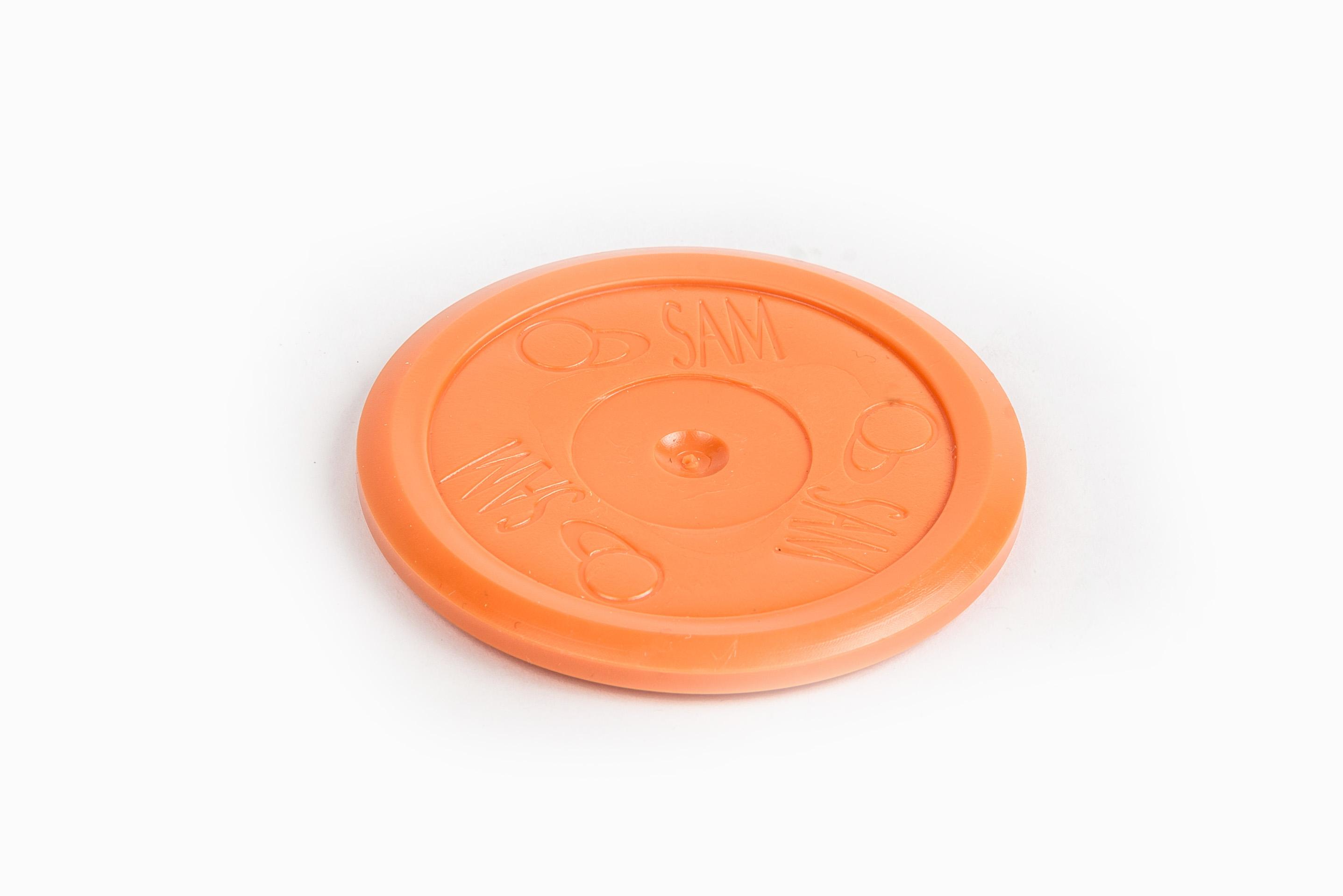Шайба оранжева за въздушен хокей , тиха