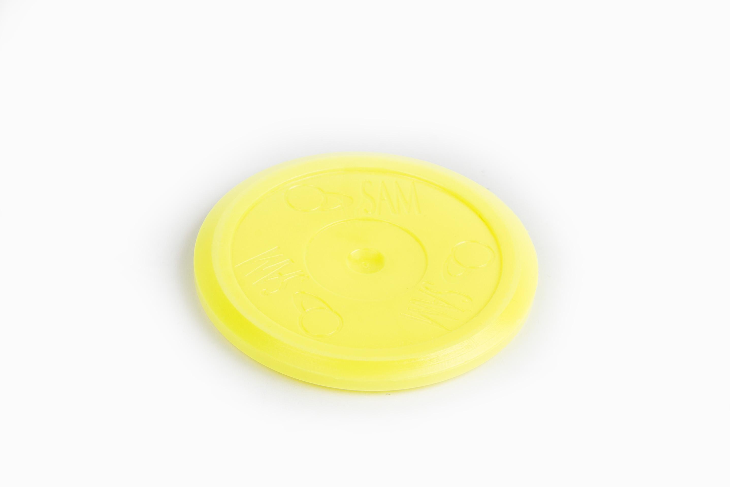Phosphorus-Yellow Air Hockey Puck